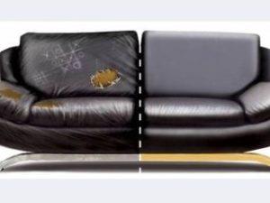 Перетяжка кожаного дивана в Кирове