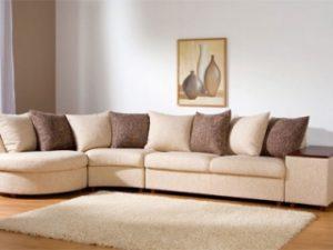 Перетяжка углового дивана на дому в Кирове